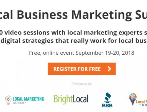 Local Business Marketing Summit – Free, online event September 19-20, 2018